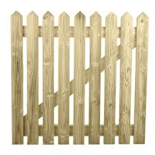 1 Ruby Portable Freestanding Treated Wooden 6ft Picket Fence Panel 2ft High