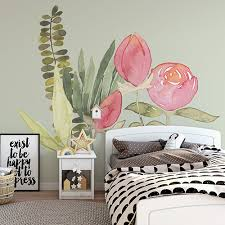 34 Of The Most Beautiful Flower Wall Decals For Your Kid S Room Nursery Kid S Room Decor Ideas My Sleepy Monkey