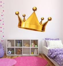 Gold Crown Wall Decal Royal Crown Decal King And Queen Crown Etsy