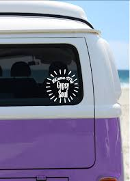 Blame My Gypsy Soul Vinyl Decal Car Decal Laptop Sticker Window Decal Bumper Sticker Boho Quote Decal Hippie
