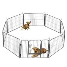 Shop Ktaxon New 24 32 40 8 Panel Heavy Duty Pet Playpen Dog Exercise Pen Cat Fence Silver Online From Best Pet Houses Cages Fences Doors On Jd Com Global Site Joybuy Com