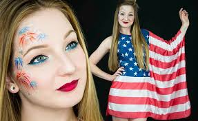 easy fourth of july makeup blurmark