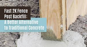 Fast 2k Fence Post Backfill A Better Alternative To Traditional Concrete Pine River Group
