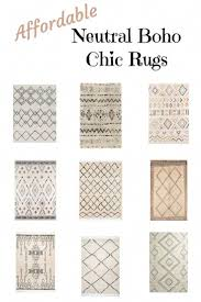 neutral boho chic rugs budget