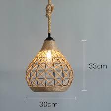 hemp rope ceiling pendant light shades