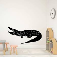 Alligator Alphabet Letter Mix Wall Decal For Children Vinyl Decor Wall Decal Customvinyldecor Com
