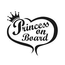 Princess On Board Heart Baby In Car Truck Window Funny Window Decal Bumper Sticker Vinyl Truck Sticker Car Stickers Aliexpress