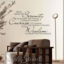 God Grant Me The Serenity Inspirational Wall Quotes Vinyl Wall Words Scripture Wall Decal