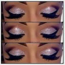 brown eyes and blue dress cat eye makeup