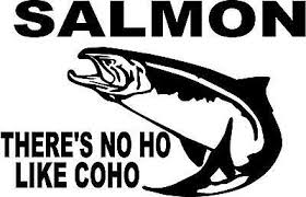 Coho Salmon Fish King Left Or Right Vinyl Decal Sticker 3036 Ebay