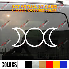 Triple Moon Symbol Decal Sticker Car Vinyl Pagan Wiccan Goddess Pick Color Size Car Stickers Aliexpress