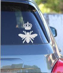 Queen Bee Vinyl Car Decal Etsy