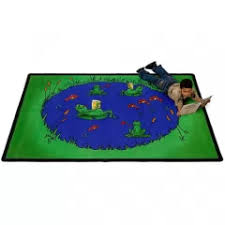 Frogs Kids Rug Fun Kid S Rug With Reading Frogs And Fish