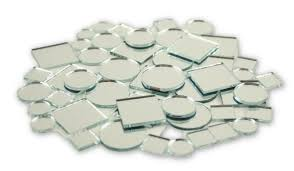 glass craft small square mirrors bulk