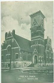 First M E Church Wichita Kansas Vintage View Postcard Unposted | eBay
