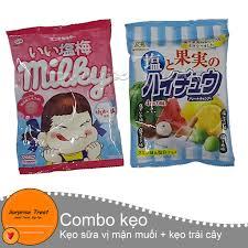 Combo kẹo mềm muối trái cây & kẹo sữa mận muối (nội địa Nhật ...
