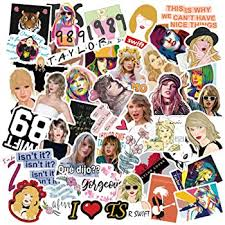 Amazon Com Music Star Taylor Swift Stickers For Water Bottle 50pcs Waterproof Durable Trendy Vinyl Laptop Decal Stickers Pack For Teens Water Bottles Computer Travel Case Taylor Swift Computers Accessories