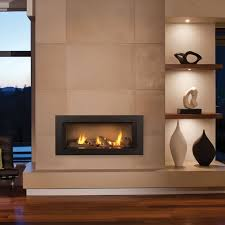 image result for linear fireplace wall