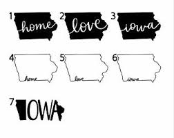Iowa Home Sticker Etsy