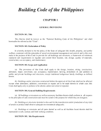 Pdf Building Code Of The Philippines Chapter 1 General Provisions Lemboi Solis Academia Edu