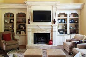 fireplace with bookcases houzz