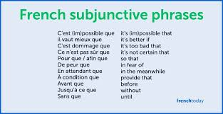 what is the french subjunctive