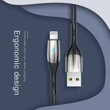 Baseus Horizontal Data Cable(With An Indicator Lamp)USB Charging Cable For  Iphone Phone | Shopee Singapore