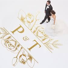 Dance Floor Decal Wedding Floor Vinyl Sticker Party Dancing Floor Deco Flora Decoration Personalized Name Wd38 Sale Up To 70 Stickersmegastore Com