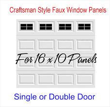 Craftsman Style Vinyl Garage Door Decal Kit 16 X 10 Faux Windows 4 Squares Per Wren Gifts Llc