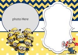 Free Printable Yellow Minions Birthday Invitation Templates Di