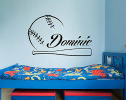 Name Wall Decals Sport Decals Baseball Vinyl Stickers Boy Room Decor Na347
