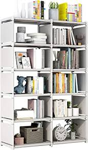 Amazon Com 9 Storage Cubes 4 Tire Shelving Bookcase Cabinet Diy Closet Organizers For Living Room Bedroom Office Gray Furniture Decor