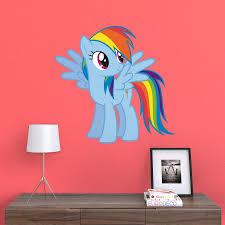 Fathead My Little Pony Rainbow Dash Junior Wall Decal 15 17134 Pony Wall Kids Room Wall Decals Wall Graphics