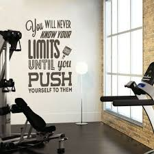 Gym Fitness Sports Wall Sticker Gymnastics Inspiration Vinyl Bedroom Mural Decor For Sale Online