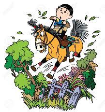 Cartoon Boy Jockey Riding His Pony Horse And Training To Jump In 2020 Cartoon Boy Pony Horse Drawing Challenge