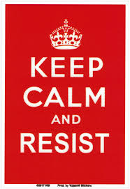 Keep Calm And Resist Bumper Sticker Decal Peace Resource Project