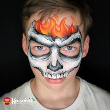 halloween skeleton face paint step by