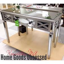 art deco inspired mirrored desk console