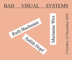 Bad Visual Systems: Ruth Buchanan, Judith Hopf, Marianne Wex ...