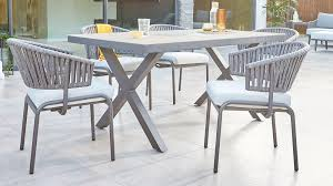 rio grey 6 seater garden furniture with