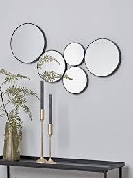 circles decorative mirror black in