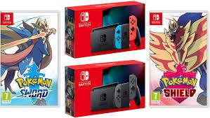 SNG Trading: Nintendo Switch Console New Version w/ Pokemon Sword ...