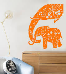 Vinyl Wall Decal Baby Elephant Family African Animals Abstract Sticker Wallstickers4you