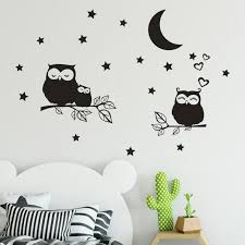 Home Decor Owl Stars Moon Removable Art Vinyl Mural Home Room Decor Wall Stickers Wall Sticker Home Deco Mirror Au7 Wall Stickers Aliexpress