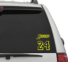 Home Decor Car Sticker 3 Sizes Available Wall Decal Legend Number 24 Decal Home Decor Decorative Accessories