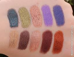 makeup geek foiled eyeshadow swatches