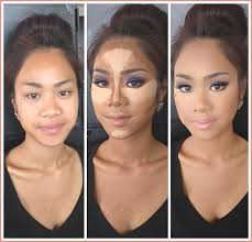 contouring makeup in cancun bridal
