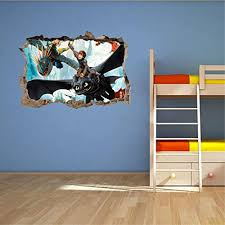 24 How To Train Your Dragon Toothless Light Fury 3d Wall Decal Sticker 18 36 Or 52 17 Oddexperts Com