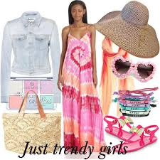 beach dresses in candy colors just