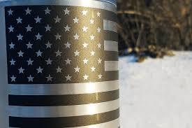 American Flag Vinyl Sticker Edgar Sherman Design Military Equipment